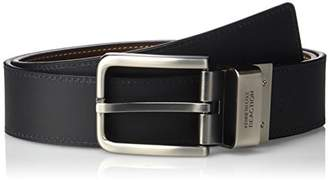 Kenneth Cole Men's Reversible Belt Gunmetal Buckle