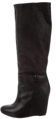 Vince Knee-High Wedge Boots