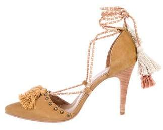Ulla Johnson Valentina Suede Lace-Up Pumps w/ Tags