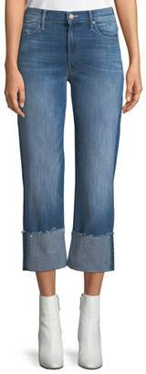 Mother Dutchie Cuffed Wide-Leg Jeans