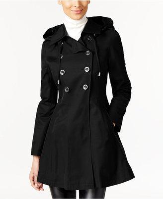 Via Spiga Skirted Hooded Raincoat $180 thestylecure.com