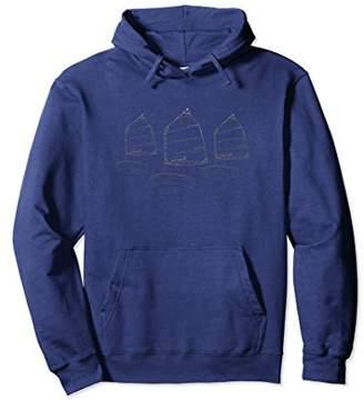 Opti Sailboat Junior Racing Sail boat Race Hooded Sweatshirt