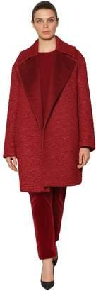Marina Rinaldi Astrakan Effect Mohair & Camel Coat