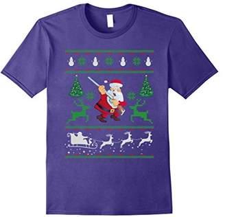Christmas Shirt Funny Santa ShotGun Hunting T-Shirt Gifts