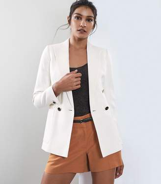 Reiss Tate Jacket - Double Breasted Jacket in Ivory