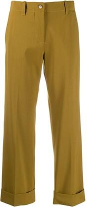 Alberto Biani cropped wide leg trousers
