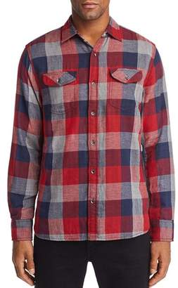 Flag & Anthem Benton Double-Faced Plaid Regular Fit Shirt