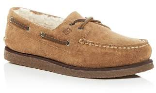 Sperry Men's Authentic Original Two Eye Suede & Shearling Boat Shoes