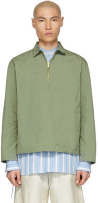 Jil Sander Green Santorini Half Zip Jacket