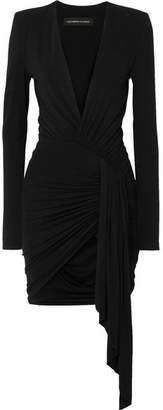 Alexandre Vauthier Asymmetric Stretch-jersey Mini Dress - Black