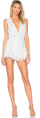 Lovers + Friends Miami Romper in Baby Blue $168 thestylecure.com