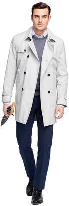 Brooks Brothers Double-Breasted Short Trench Coat