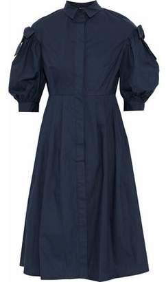 Raoul Bow Detail Cotton-Poplin Dress