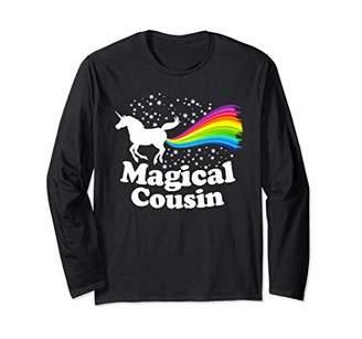 Cousin Magical Unicorn Farting Rainbow Funny Cute Long Sleeve T-Shirt