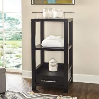 Linon Kent Black Tall Storage Cabinet