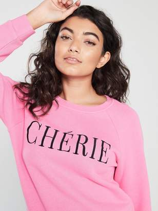 Whistles Cherie EmbroideredSweat Shirt - Pink
