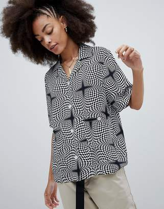 Stussy Oversized Shirt In Psychedelic Print