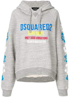 DSQUARED2 Only Good Vibrations logo hoodie