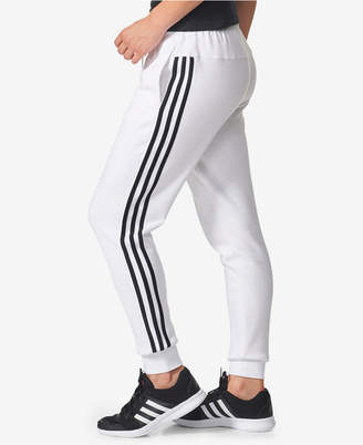 adidas Cotton Fleece 3 Stripe Joggers