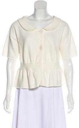 Christian Dior Knit Collared Top