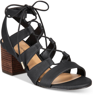 Call It Spring Ereissa Block-Heel Lace-Up Sandals Women's Shoes $49.50 thestylecure.com