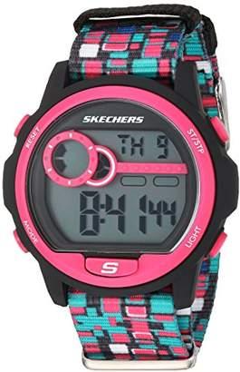 Skechers Women's Dixon Digital Plastic and Nylon Chronograph Watch