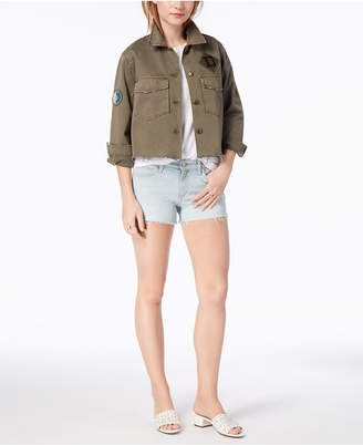 Joe's Jeans Marie Cropped Cotton Military Jacket