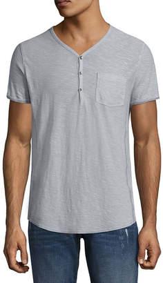 Decree Mens Short Sleeve Henley Shirt