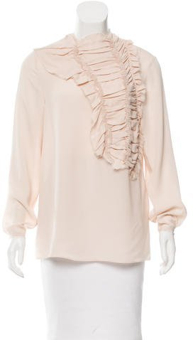 3.1 Phillip Lim 3.1 Phillip Lim Ruffle-Paneled Silk Top