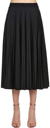 Valentino Vltn Plisse Jersey Midi Skirt