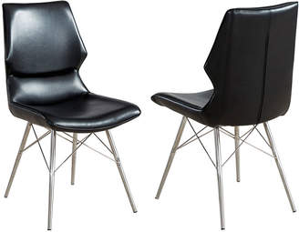 Asstd National Brand Vaux Faux Leather Side Chair- Set of 2