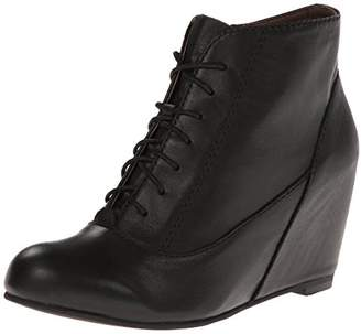 All Black ALL Women's Laceup Wedge