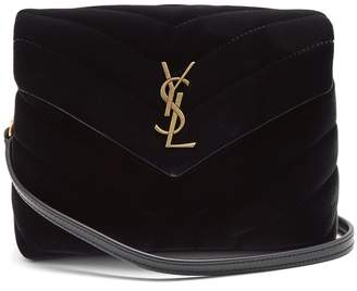 Saint Laurent Loulou Toy quilted-velvet cross-body bag