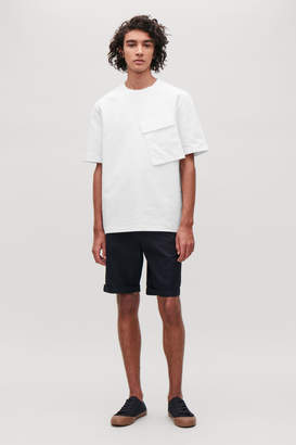 Cos T-SHIRT WITH SLANTED POCKET