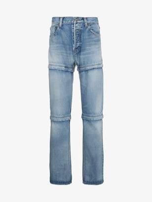 Balenciaga Blue zipped jeans