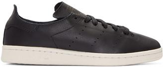 adidas Originals Black Stan Smith Lea Sock Sneakers $130 thestylecure.com