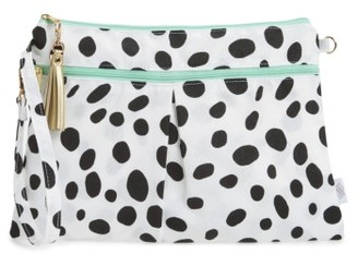Infant Logan And Lenora Waterproof Wristlet Clutch - Black $29 thestylecure.com