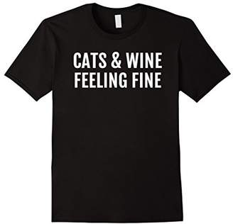 Cat and Wine T-Shirt - Funny Wine Shirts - Drinking Tee