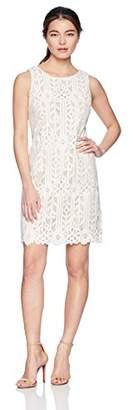 Jessica Howard Women's Petite Sleeveless Lace Shift Dress16
