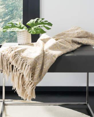 Safavieh Peppin Metallic Throw Blanket