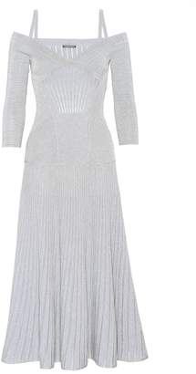 Alexander McQueen Off-the-shoulder knitted dress