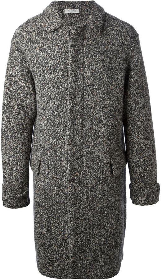 Valentino marled knit coat