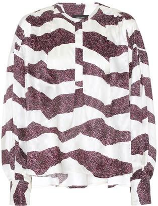 Isabel Marant Rosy silk-blend jacquard blouse