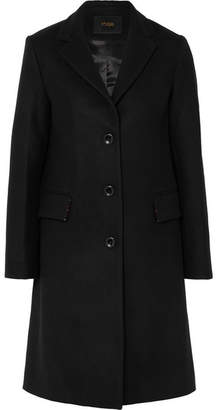 Maje Wool-blend Coat - Black