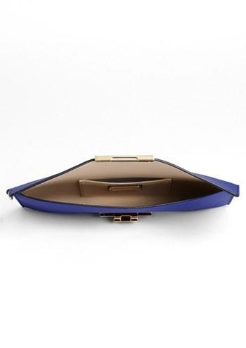 Salvatore Ferragamo 'Afef' Leather Clutch