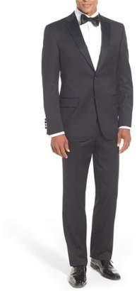 David Donahue Classic Fit Loro Piana Wool Notch Lapel Tuxedo