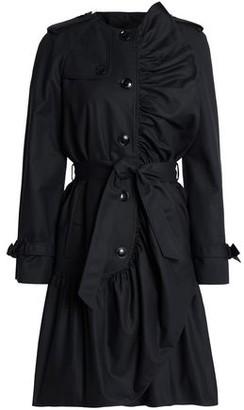 Moschino Ruffled Cotton-Blend Trench Coat