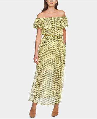 1 STATE 1.state Ruffly Off-The-Shoulder Maxi Dress
