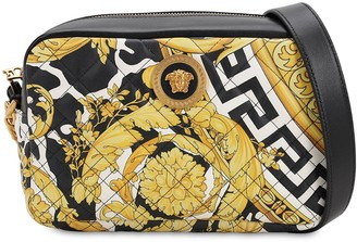 Versace LOGO PRINT QUILTED LEATHER CAMERA BAG