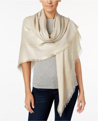 Calvin Klein Metallic-Pattern Wrap $58 thestylecure.com